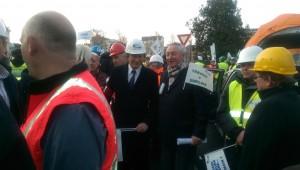 François Tarantini avec Pierre Streiff Président du bâtiment à la manifestation pour réclamer du travail