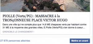 28 000 personnes ont été touchées par ce post sur le massacre de la place Victor Hugo