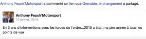 """témoignage sur """"Grenoble, le changement"""" . C'est """"calme"""" pour E.Martin"""