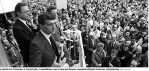 Il y a 30 ans François Léotard, Alain Carignon, Ministres tous les deux le directeur et 2000 Grenoblois inauguraient le CNAC
