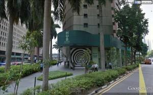 le siége de la société dont E.Piolle est actionnaire à Singapour: pas de fresques anti capitaliste ou anti police