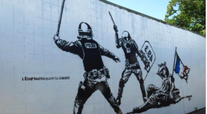 fresque anti police gare street art