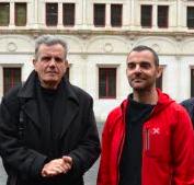 O.Bertrand ( Verts/Ades) ici avec Raymond Avrillier: on les a connu plus exigeants ( en apparence) sur les dossiers de l'eau...