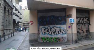 ... dans les rues piétonnes de Grenoble ...