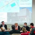 """La municipalité choisit les """"citoyens"""" qui interviennent parmi les membres de son comité de soutien . ici Guillaume Laget"""