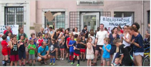 Mobilisation en faveur d'Hauquelin en bordure de l'Alma l'un des 5 quartiers en dessous du seuil de pauvreté de Grenoble