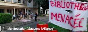 Est-ce que la bibliothèque l'Alliance ne pâtit pas d'avoir été créée par la municipalité Carignon?