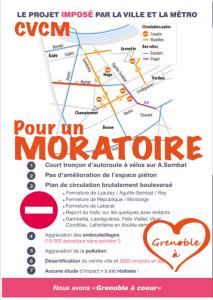 """"""" Grenoble à coeur"""" rappelle sa demande sur une affiche donnée aux commerçants"""