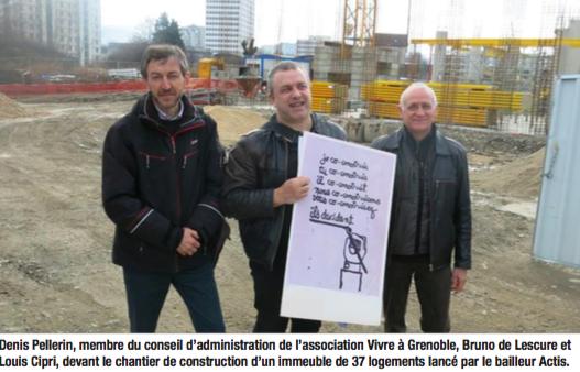 """""""Vivre à Grenoble"""" a fait annuler le premier permis de construire (photo DL)"""