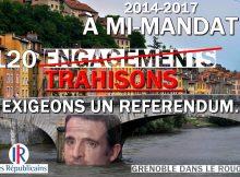 E.Piolle voudrait tenir les seuls engagements qu'il n'a pas pris: fermer Grenoble et supprimer des services aux Grenoblois