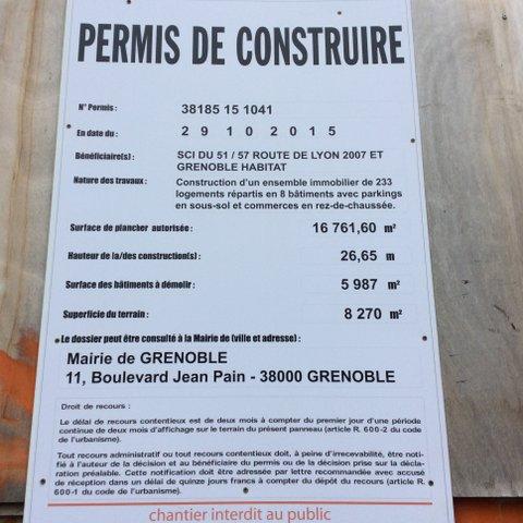 Avant toute concertation les permis de construire avaient été déposés par Maryvonne Boileau Présidente de Grenoble Habitat (Verts/Ades)