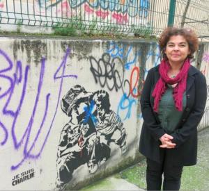Corinne Bernard, ex chef de gare, adjointe à l'inculture, ravie de voir du junk (= pourri) rue Génissieu