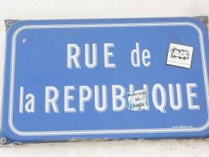 Panneau rue de la république