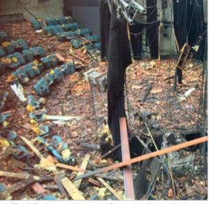 La délinquance a reçu 5 sur 5 le message du laxisme: ici le théâtre Premol qui a brûlé