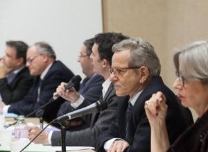 Alain Carignon en débat avec Eric Piolle, J.Safar (PS) D.Bonzy et C.D'Ornano (FN)