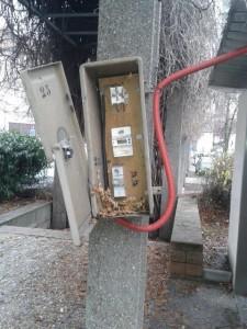Place André Malraux, des risques d'électrocution