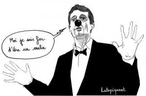 """dessin signé Lutopiquant parue dans """" Le Postillon"""""""