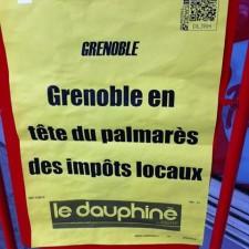 Grenoble est la première ville de France pour l'impôt sur les ménages et l'extrême gauche vient encore pomper le contribuable grenoblois