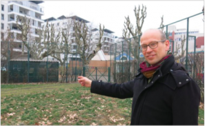 Fabien Malbet Adjoint (Verts/PG) très joyeux de bétonner le parc Hoche...
