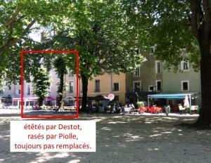 2 tilleuls liquidés par Destot/Piolle au jardin de ville