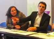 E.Piolle et Emmanuelle Cosse la secrétaire générale des Verts entrée au gouvernement