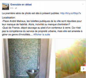 """""""Grenoble en débat"""" recycle la propagande municipale et a tenté d'imiter Grenoble le changement en montrant des dégradations mais exonérant la municipalité. Pitoyable"""