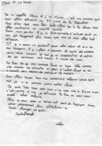Lettre de Gloria