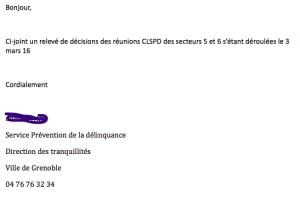 un lanceur d'alerte à l'intérieur du système Piolle nous a adressé le compte rendu intégral du CLSPD dont même le Conseil Municipal n'a pas connaissance !