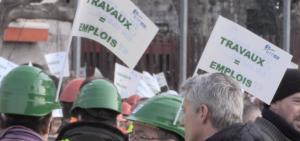 le bâtiment et les travaux publics manifestants pour l'emploi à Grenoble alors que la municipalité Piolle bloque tous les grands dossiers