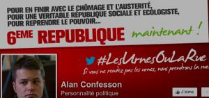 Alan Confesson l'un des ridicules qui représente bien l'extrême gauche municipale . Son compère Antoine Back s'est au moins tu !