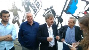 le philosophe Yves Roucaute hier soir avec Alain Carignon, François Tarantini et Nicolas Ponchut