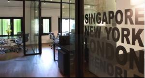 les bureaux de la société de E.Piolle (Verts/PG) à SIngapour