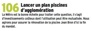 la seule décision du plan a été de fermer la piscine couverte des Iris à Villeneuve