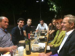 Détente autour d'un verre quartier de Bonne après la réunion avec Daniéle Fodil, Arnaud Vercken, Yannick Foschia, Sébastien Tomasella, Nicolas Ponchut ( cachés Adrien Fodil et Kitty Lequesne )