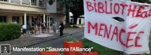 la bibliothèque l'Alliance créée par la municipalité Carignon : elle est menacée par la municipalité Piolle