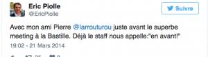 le tweet de Piolle: en avant pour les trous financiers à Nouvelle Donne comme à Grenoble