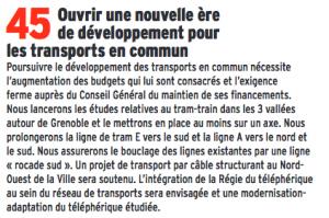 Tous les prolongements d ligne de Tram sont abandonnés et l'axe tram Train qui devait se mettre en place n'a même pas été étudié
