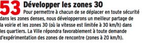 """La ville n'a pas encore mis en place les """" zones de rencontre """" en voiture, les zones 20KM/H. Etonnemment aucun """"citoyen"""" n'en a encore fait la demande dans sa rue...."""