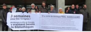 """Contre les bibliothèques la municipalité aura tout fait: même bloquer """"l'autorisation"""" (!) de la pétition près d'un mois"""