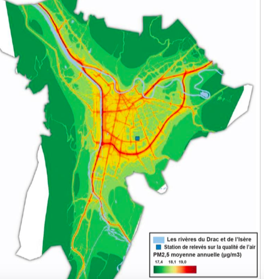 Carte Pollution Bordeaux.Carte Pollution Grenoble Le Changement